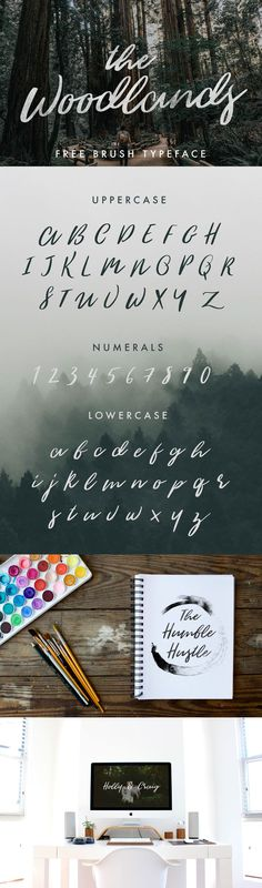 The Woodlands is a free brush script from Jeremy Vessey. It has a modern calligraphy aesthetic that is extremely popular. The Woodlands was created to give designers a free alternative which will help you achieve that lettering feel we all love - Free for…