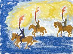 Waldorf ~ 1st grade ~ Letter: F ~ Flickering Flames
