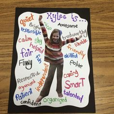 Character Traits and Making Your Students Feel Special. This would be a great le… Character Traits and Making Your Students Feel Special. This would be a great lesson on adjectives too! Beginning Of The School Year, First Day Of School, Middle School, High School, Classroom Activities, Classroom Organization, Adjectives Activities, Anchor Activities, 2nd Grade Reading