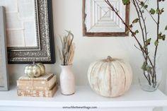 Vintage chalk paint pumpkins