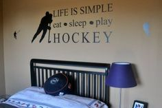 Hockey Room for boys - Homeworks Etc. Designs