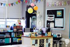 ♥ this classroom!! Classroom Reveal 2015 - First Grade Blue Skies