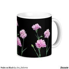 Pinks on Black Classic White Coffee Mug