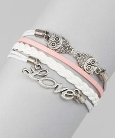 Another great find on #zulily! Simply Reese Pink 'Love' Cord Bracelet by Simply Reese #zulilyfinds