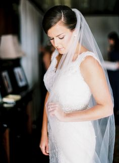 wedding veil, wedding dress, bridal portrait | Emerywood Baptist Church   Adaumont Farm Wedding | High Point NC Wedding Planner
