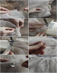 DIY Tutu Skirt - 15 Fashionable DIY Clothes we could make tutus for dayyyysss Sewing Hacks, Sewing Tutorials, Sewing Crafts, Sewing Projects, Sewing Patterns, Sewing Diy, Tutu Diy, Diy Tutu Skirt, Tulle Skirts