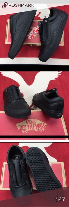 7b5315e8d2478c Vans Old Skool Zip (Gunmetal Black) I bought these pair of vans from another