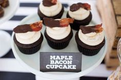 maple bacon cupcakes for 50th birthday parties