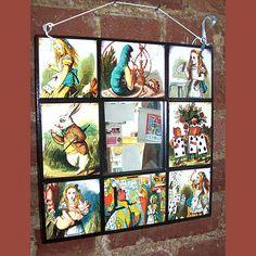 Alice in Wonderland wall mirror retro vintage Victorian fairy tale. $20.00, via Etsy.
