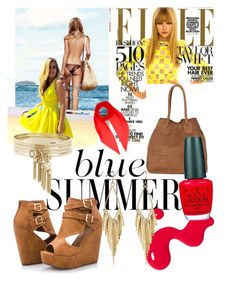 """""""Blue Summer"""" by chanlee-luv ❤ liked on Polyvore featuring Ashley Stewart, Illamasqua, OPI, Yves Saint Laurent and BCBGeneration"""