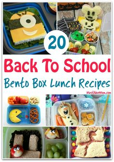 20 Bento Box lunch ideas for back to school! Grab these bento box recipes for fun lunch ideas for kids. via @musthavemom