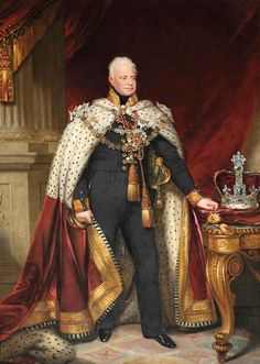 King William IV reigned 1830 to 1837 and was succeeded by his niece, Victoria. King William Iv, King Outfit, Queen Of England, Duke Of Cambridge, Art Uk, British Monarchy, British History, Queen Victoria, Royal Fashion