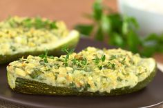 Summer time means zucchini time.here is a wonderful baked zucchini recipe. Baked Stuffed Zucchini Recipe from Grandmothers Kitchen. Veggie Main Dishes, Vegetable Side Dishes, Vegetable Recipes, Gluten Free Recipes, Vegetarian Recipes, Healthy Recipes, Baked Stuffed Zucchini, Kitchen Recipes, Diets