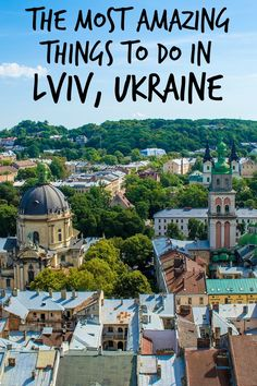 Lviv is arguably the most beautiful city in Ukraine and it's definitely worth visiting if you ever get the chance! #lviv #Ukraine