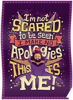 """""""I'm not scared to be seen. I make no apologies."""" The Greatest Showman - Hand Lettering by Risa Rodil The Greatest Showman, Disney Star Wars, Song Quotes, Movie Quotes, Qoutes, Hamilton Musical, Film Serie, Disney Quotes, Music Lyrics"""
