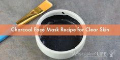 This easy charcoal face mask DIY is perfect if you have oily, acne-prone skin and clogged pores. It's simple to make and all natural - which means this is a DIY charcoal mask without glue! That makes it painless and more skin-friendly. #FaceMaskForSpots Face Scrub Homemade, Homemade Face Masks, Homemade Skin Care, Homemade Blush, Homemade Moisturizer, Homemade Facials, Homemade Beauty, Charcoal Face Mask Diy, Charcoal Mask Benefits
