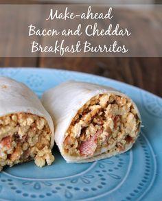 Make-ahead Bacon and Cheddar Breakfast Burrito Recipe