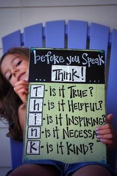 True Helpful Inspiring Necessary Kind  THINK!