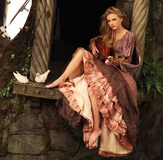 Taylor Swift poses for acclaimed photographer Annie Leibovitz, as the spirited princess Rapunzel.