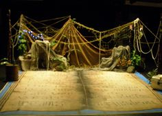 Set design with ropes - could hang between trees; attach things like fabric as needed