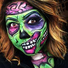 Zombie zombiepopart popart Halloween halloweenmakeup makeup fxmakeup