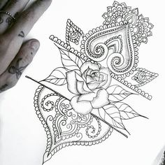 Pretty shoulder cap concept with partial band. Tropical Flower instead or rose, though... #TattooIdeasShoulder