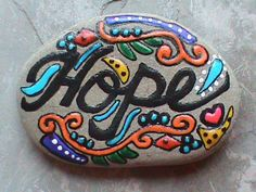 Hand Painted Stone by TheLakeshoreStore on Etsy