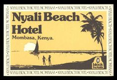 Nyali Beach Hotel Mombasa Luggage Label