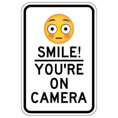 image relating to Smile You Re on Camera Sign Printable named Pin by way of Lynn upon Printable (Indicators) Indications, Garden, backyard, Digicam