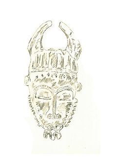 Further research into Masks brought me to African Masks, this one in particular is a tribal mask inspired by Antelopes