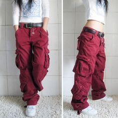 Hiphop Overalls Harem Pants Loose Chinos Casual Army Cargo Pants Men Women Can Wear