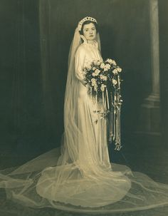 Leonilda Verzone as a bride to George Salemme, taken in 1936