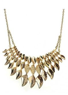 Gold Whorl Chain Necklace