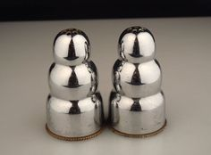 Vintage Farberware Art Deco Chrome Salt & Pepper Shakers in Collectibles, Decorative Collectibles, Salt & Pepper Shakers | eBay