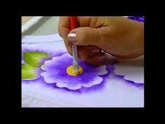 Espaço Condor: Pintura em Tecido: Estamparia de Flores - YouTube
