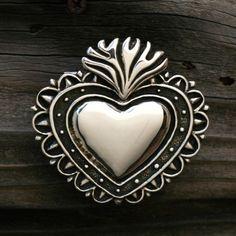 MILAGRO corazón hebilla por SilverBeyondOrdinary en Etsy