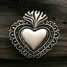 MILAGRO Heart Belt BUckle in solid by SilverBeyondOrdinary on Etsy (Accessories, belt buckle, sterling silver, handmade buckle)