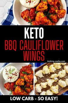 I really want to try new low carb vegetable recipes and these keto BBQ Cauliflower Wings  look so good! I can't wait to cook this easy side for my family.  These little bites look like the perfect keto cauliflower recipe.  And you can make them in your air fryer.  SO PINNING! #kickingcarbs #lowcarb #keto #lchf #ketorecipes #cauliflowerwings Bbq Cauliflower Wings, Cauliflower Fritters, Cauliflower Bites, Cauliflower Recipes, Vegetable Sides, Vegetable Recipes, Low Carb Vegetables, Best Comfort Food, Healthy Dishes