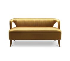 Karoo 2 Seat Sofa   The yellow tones of this arid area are represented in the satin fabric colour, and the delicate touch of KAROO two seat sofa helps to feel the desert with a smooth and peculiar comfort. KAROO two seat sofa is perfect to provide a warm climate.2015 furniture trends
