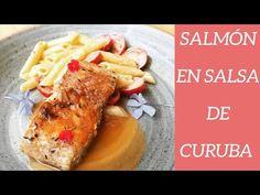 Receta de Salmón en Salsa de Curuba y Pasta Alfredo #salmon #filete #curuba #pasta #pastaalfredo French Toast, Pasta, Breakfast, Youtube, Food, Steak, Earth, Easy Recipes, Cooking