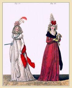 MORNING DRESSES, December 1794.