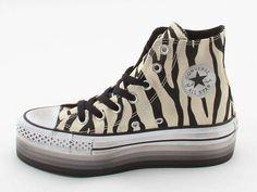 converse scarpe zebrate