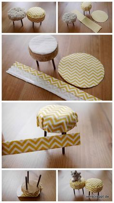 diy mini dollhouse stools