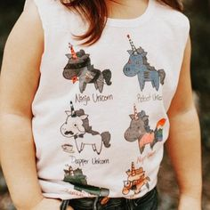 Every girl needs a little sparkle! This muscle tee is on trend with raw edges and unicorns. Girl Trends, Trendy Girl, Toddler Girl Outfits, Muscle Tees, Every Girl, Dapper, Little Ones, Tank Man, Unicorns