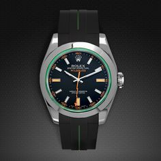 Strap for Rolex Milgauss 40mm - Tang Buckle Series VulChromatic®   RUBBER B   RUBBER STRAP FOR ROLEX, PANERAI, WATCHES