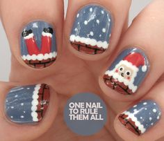 One Nail To Rule Them All: Tutorial Tuesday: Santa Got Stuck Up The Chimney