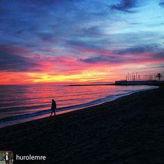 @Regrann_App from @hurolemre -  #another #sunset #another #great #evening #beach #beachwalk #with #love #marbella #spain #spain #espana #españa #ispanya #gunbatimi #amarehotelmarbella #amarebeachhotel #zalazaksunca #zalazak #lapuestadelsol #puestadesol #amarebeach #sahilde #travel #weekend #saturday #mediterranean #carpediem #livethelittlethings #livethemoment