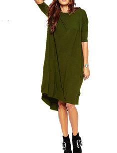 7a65a1af Haola Women's Loose T Shirt Dress Home Short Shirts Mini Dresses Tops