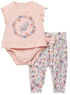 Jessica Simpson Bodysuit & Legging Set (Baby Girls) #babygirl, #nordstrom, #sale, #promotion