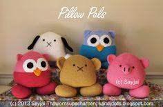 New crochet pattern: Pillow Pals ~ Amigurumi crochet patterns ~ K and J Dolls / K and J Publishing